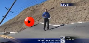 MONUMENTAL GEOLOGICAL UPHEAVALS Landslide Buckles Vasquez Canyon Road - Los Angeles, California!